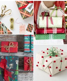 Present Perfect - Christmas Gift Wrapping Ideas . Christmas Present Wrap, Christmas Mood, Christmas Gift Wrapping, Perfect Christmas Gifts, Christmas Crafts, Xmas, Unique Wrapping Paper, Creative Gift Wrapping, Wrapping Ideas