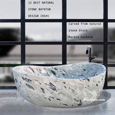 12 best natural stone bathtub design ideas