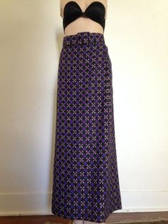 d9e494b368 1970 Vintage Givenchy Mod Wool Maxi Skirt made in France medium Vintage  Halloween