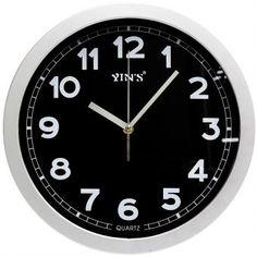2c5531c2470 Relógio de Parede Yins YI15032 Preto 12cm - Megazim Relógio De Parede