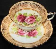 Paragon England Dual Royal Pink Roses Pink Peach Tea Cup and Saucer Tea Cup Set, My Cup Of Tea, Tea Cup Saucer, China Cups And Saucers, China Tea Cups, Café Chocolate, Tea And Crumpets, Vintage Dishes, Vintage Teacups