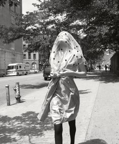 """Eniko Mihalik by Glen Luchford / """"Decade in Style"""" / AnOther Magazine, Fall/Winter 2009 Polka Dot Veil, Polka Dots, Glen Luchford, Shades Of Grey, Editorial Fashion, The Twenties, Fashion Photography, White Photography, Black And White"""
