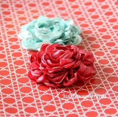 Ribbons and Much More: Fancy Flowers Tutorial