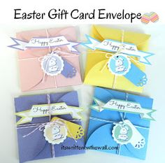(freebie) Easter Petal Envelope for Gift Cards & Treats