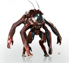 Roach Valentin Demchenko on ArtStation . Alien Concept, Robot Concept Art, Character Concept, Character Art, Character Design, Space Opera, Arte Robot, Cyberpunk Character, Cyberpunk Art