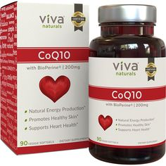 Viva Naturals CoQ10 200mg, 90 Vegetarian Softgels - Enhanced with BioPerine® for Increased Absorption         *** Click image for more details. (This is an affiliate link) #HealthHousehold
