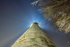 Looking up at Pointe aux Barques Lighthouse in Port Hope, Michigan | Prints available at www.danfrei.com