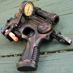 steampunk Nerf gun;; would make for awesome wedding couple pics!