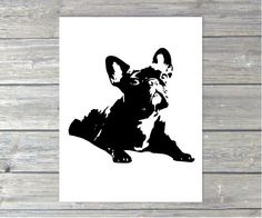French Bulldog Art Print 8x10 by milkandthistle on Etsy, $19.95