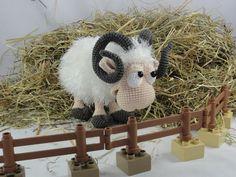 Amigurumi Crochet Pattern - Rambert the Ram by IlDikko on Etsy https://www.etsy.com/listing/220525256/amigurumi-crochet-pattern-rambert-the