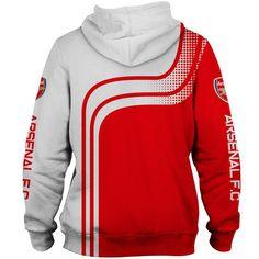 Arsenal Hoodie Longsleeve Fullprint New Zipper Hoodie For Men/'s