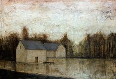 Bernard BUFFET ( 1928 - 1999 ) - Peintre Francais - French Painter Inondation