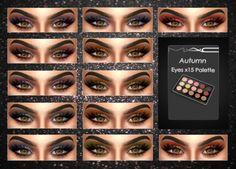 Sims 4 Updates: MAC Cosimetics - Eyes : Autumn Eyes x 15 Palette, Custom Content Download!