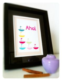Ahoi in PINK A5 Glossy – Druck