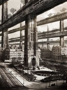 """H. Ferriss's Paris Visit"" by Francisco Villeda  Sort of post-post apocalyptic!"