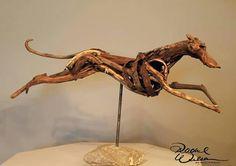 Sculpture of a long dog
