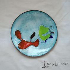 Pools of Color Cloisonné Enameled Copper Art Plate