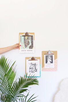 DIY School Supplies You Need For Back To School - DIY Gold Leaf Brushed Clipboards - Cuter, Cool and Easy Projects for Teens, Tweens and Kids to Make for Middle School and High School. Fun Ideas for Backpacks, Pencils, Notebooks, Organizers, Binders http://diyprojectsforteens.com/diy-school-supplies