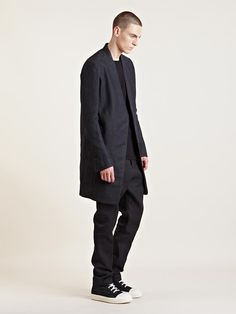 Rick Owens Men's Wrap Coat