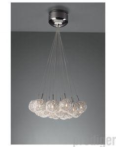 XXL Skyline Luxus Hängelampe | Hängeleuchte New York | Deckenlampe | Lampe  50cm | Lounge | Wohnzimmer | Esszimmer | Schlafzimmer | Chrom | Dimmbar U2026