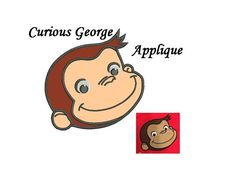 Curious George Applique Embroidery Design  3 by WonderCoolStore