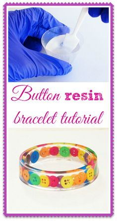 Resin Obsession blog: How to make a resin bangle bracelet with buttons