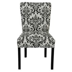 A new twist on Old World elegance, these 2 side chairs are made in America and feature damask-inspired upholstery.  216.95
