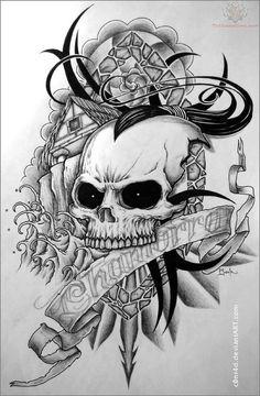 Skull Tattoo Pattern
