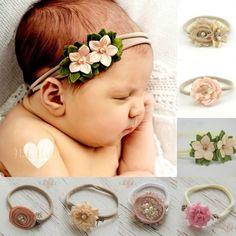 Diademas de bebé recién nacida venda venda de Nylon arcos
