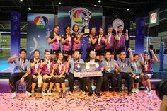 วอลเลย์บอลสาว DPU คว้าถ้วยรางวัลชนะเลิศในการแข่งขันแชมป์กีฬา 7 สี วอลเลย์บอลอุดมศึกษา 2014 ครั้งที่ 1