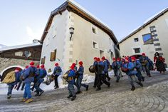 """Chalandamarz"" is a custom of the Romansh-speaking part of the Swiss canton of Graubünden, is celebrated on March 1 of each year. The school children on that day singing and ringing through the village to expel the winter."