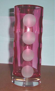 "Kate Spade Lenox Bonita Street Pink Cylinder Vase 10"" Crystal Frosted Dots New #KateSpade"