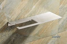 Brushed Stainless Steel Toilet Roll Holder with Shelf by Sanliv Bathroom Hardware