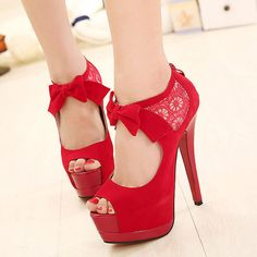 Bowknot Crochet Lace Peep Toe High Stiletto Heel Sandal