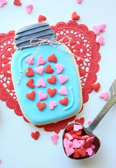 valentine's day cookie pizza
