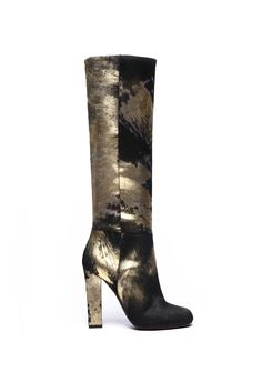 fall 2012, Diego Dolcini, shoes, boots + booties, metallic