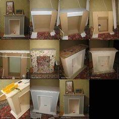 El Tutorial es solo en estas fotos para hacer Chimenea de cartón.