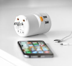 Twist World Adapter - Recently funded by a Kickstarter campaign, this smart little device was designed to work in 150 countries and charge up to 5 devices at the same time—thanks to 4 USB ports and a universal outlet.
