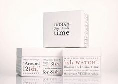 The 'Ish' Watch | Designed by Hyphen | Country: India