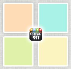 Great color choices for your nursery. These will go beautifully with crisp whites or soft greys. Create a palette of colors for your home with the Color911 app. www.Color911.com #color #colorapp #designtool #app