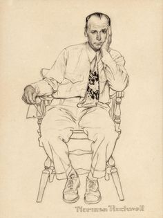 NORMAN ROCKWELL (American, Waiting at the Doctor's Office, possible Smith Kline advertisement, circa 1952 Pencil and ink on board 12 x 9 inches Human Figure Sketches, Figure Sketching, Figure Drawing, Norman Rockwell Art, Norman Rockwell Paintings, Drawing Sketches, Art Drawings, Illustration, Drawing People