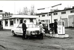 Osuuskauppa Sepon huoltoasema Jämsässä 1960-luvulla.