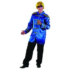 Beatles Sergent Pepper Jacket Outfit Blue – My Fancy Dress 1960s Costumes, Funny Costumes, Men's Costumes, 1960s Fancy Dress, Sgt Pepper, Hippie Costume, Military Style Jackets, Lonely Heart, Costume Dress