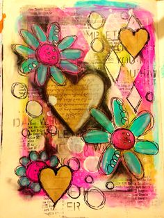 Documented life project- layers art journal page