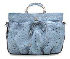 wardow.com - Tasche von Escada, Schultertasche Leder blau 40 cm