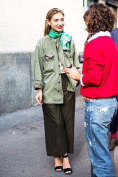 Jenny Walton by Sandra Semburg Star Fashion, Look Fashion, Girl Fashion, Fashion Outfits, Womens Fashion, Milan Fashion, Facon, Military Fashion, Street Chic