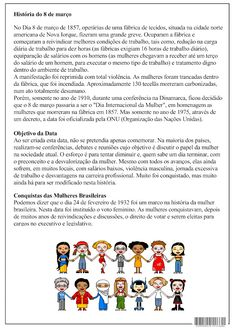 SOS PROFESSOR-ATIVIDADES: Dia Internacional da Mulher Sos Professor, Pli, Word Search, Education, Words, School, Blue Balloons, International Women's Day, Toilet Paper Rolls