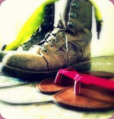 military life. So true. My shoes are in a line next to his line of combat boots.. Gotta love it.