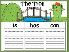 Here are 3 graphic organizers to help your students write about the troll from the story The Three Billy Goats Gruff. I gave you the option of eit. Fairy Tale Activities, Eyfs Activities, Book Activities, Party Activities, Traditional Tales, Traditional Stories, Fairy Tale Crafts, Fairy Tales Unit, Billy Goats Gruff