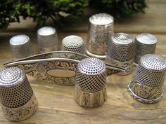 silver thimbles and shuttle